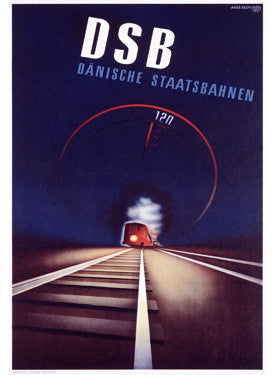 Danish DSB Train Advertisement Fine Art Print
