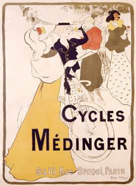 Paris Bicycles Medinger Ad Fine Art Print