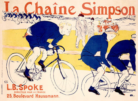 La Chaine Simpson Bicycle Ad Fine Art Print