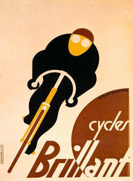 French Brillant Bicycle Ad Fine Art Print