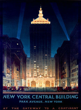 New York Central Building by Chesley Bonestell Fine Art Print