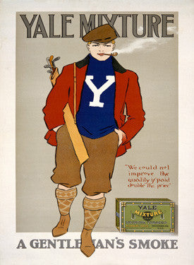Smoke Yale Mixture Ad Fine Art Print