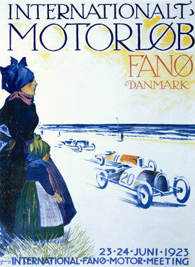 1923 Internationalt Motorlob Fano Ad by Thor Bogelund Fine Art Print