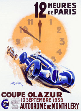 1939 12 Hours of Paris Grand Prix Ad Fine Art Print
