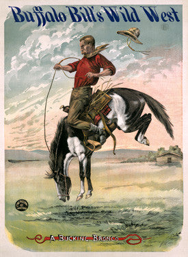 Buffalo Bill's Wild West Bucking Bronco Fine Art Print