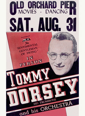 Tommy Dorsey and His Swing Orchestra Fine Art Print