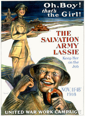 WWI The Salvation Army Lassie Fine Art Print