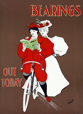 Women on Bicycle Ad Fine Art Print