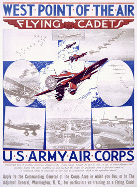 WWI US Army Air Corps Recruiting Fine Art Print