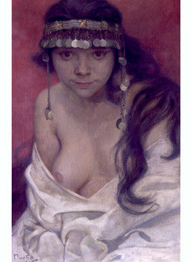 Girl from Montenegro by Alphonse Mucha Fine Art Print