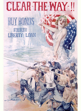 WWI 4th Liberty Bonds - Clear the Way! by Howard Christy Fine Art Print