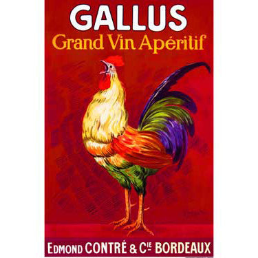 Gallus Vintage Poster by Artist Leonetto Cappiello Wood Sign
