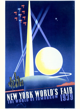 1939 New York Tomorrow Worlds Fair Fine Art Print