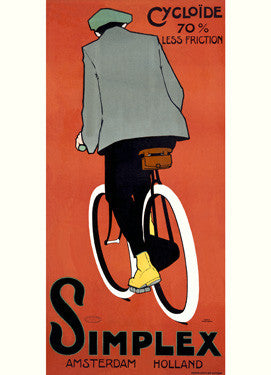 1915 Dutch Simplex Bicycle Ad Fine Art Print