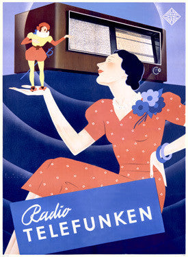 1938 German Telefunken Radio Advertisement Fine Art Print