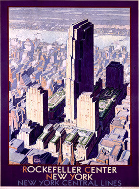 1934 Rockefeller Center Railroad Fine Art Print