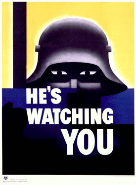 He's Watching You US Propaganda by Glenn Grohe Fine Art Print