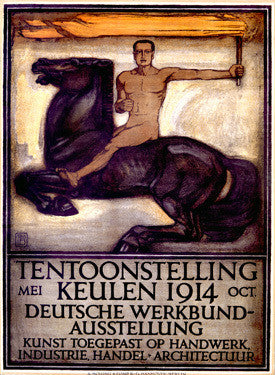 1914 German Trade Union Exhibition Advertisement Fine Art Print
