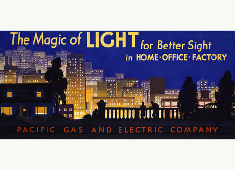 Pacific Gas and Electric - Magic of Light Advertisement Fine Art Print
