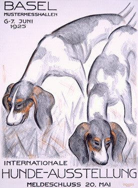 Internationale Hunde-Ausstellung Fine Art Print