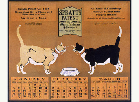 Spratts Patent Cat Chow Fine Art Print