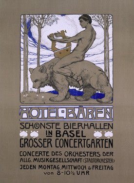 Hotel Baren Advertisement Fine Art Print