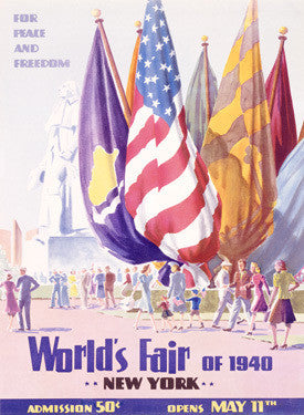 1940 New York Worlds Fair Fine Art Print