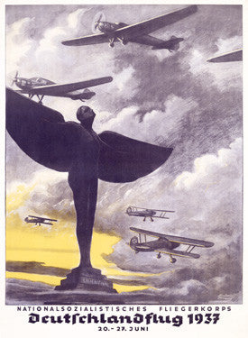1937 German Air Corps Flight Fine Art Print
