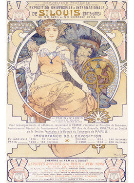 1904 Worlds Fair St Louis Advertisement by Alphonse Mucha Fine Art Print