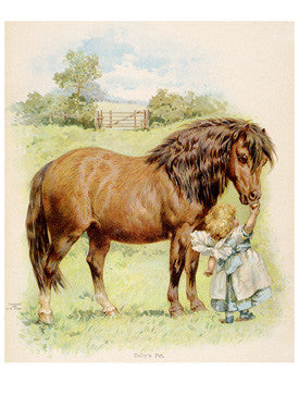 The Pony and the Girl Fine Art Print