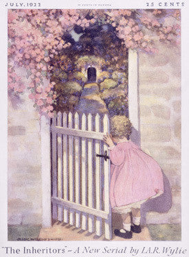 Girl at the Garden Gate Fine Art Print
