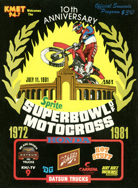 1981 Super Bowl of Motocross Ad Fine Art Print