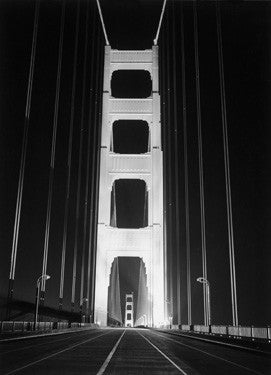 1937 Golden Gate Bridge at Night Fine Art Print