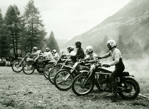 Bultaco Motocross Starting Gate Photo Fine Art Print