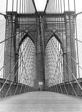New York Brooklyn Bridge Tower Fine Art Print