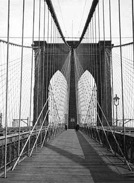 New York Brooklyn Bridge Cable Fine Art Print