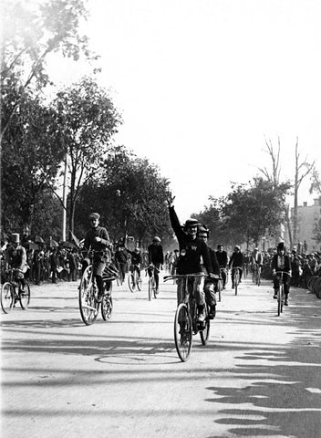 Bicycle Race Parade Photo Fine Art Print