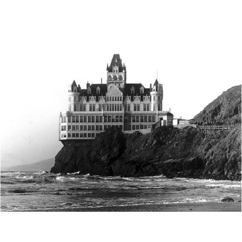 San Francisco Cliff House Hotel Photo Wood Sign