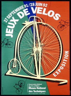 French Jeux De Velos Bicycle Expo Ad Fine Art Print