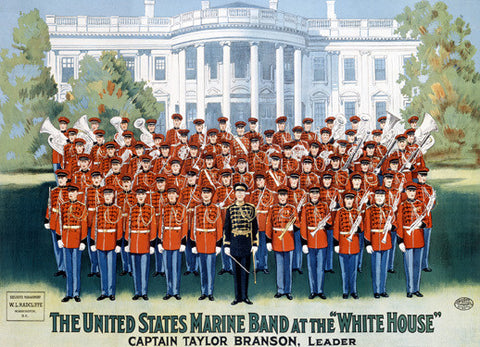 US Marine Corps Band White House Fine Art Print