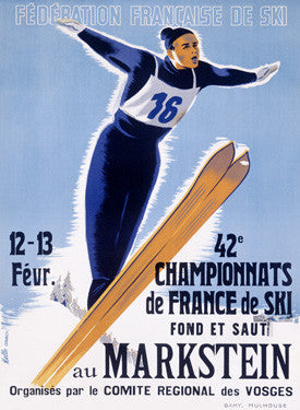 42nd French Snow Ski Championship Ad Fine Art Print