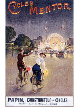 Bicycles Mentor Carnival Circus Ad Fine Art Print