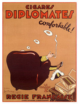 French Diplomate Cigar Ad Fine Art Print