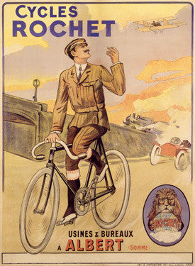 French Rochet Bicycle Ad Fine Art Print
