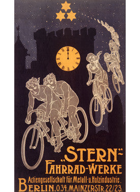 Stern Bicycle Works Ghost Ad Fine Art Print