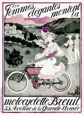 Breuil Motorcyclette Bicycle Ad Fine Art Print