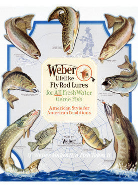 Weber Fly Rod Fishing Lures Fine Art Print