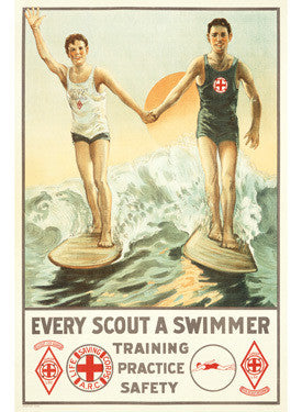 Every Boy Scout A Swimmer Ad Fine Art Print