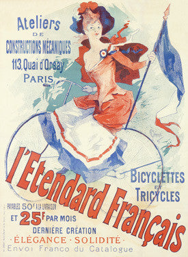 French Atliers Bicycle Tricycle Ad Fine Art Print