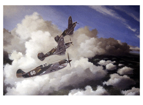 AVG Curtiss Hawk P40C Burma by Paul Wollman Fine Art Print